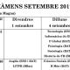 Calendari d'exàmens de setembre