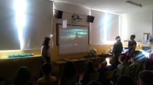 Compartir el projecte de cinema amb una escola de primària
