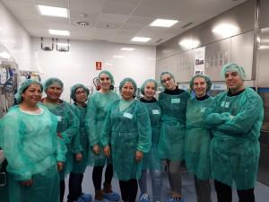Visita al servei d'esterilització de l'Hospital de Sant Pau