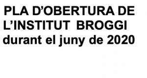 Pla d'obertura de l'Institut Broggi